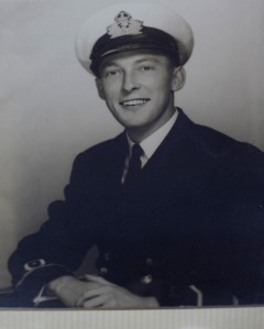 Keith pictured during his wartime service