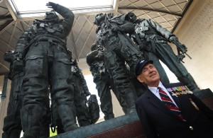 John Hall visited the Bomber Command memorial