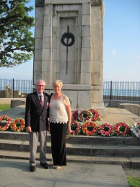 Bob pictured with his wife Sheryl during their commemorative trip