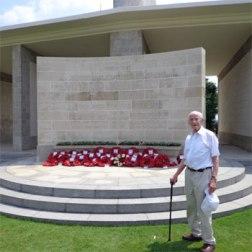Bill visited Kranji Memorial in Singapore