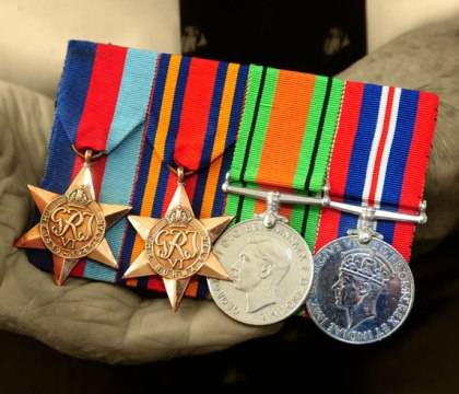 Veteran holds medals