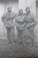 Jim (far left) with fellow Paras, Italy