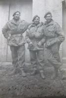 Jim (far left) with fellow Paras, Italy